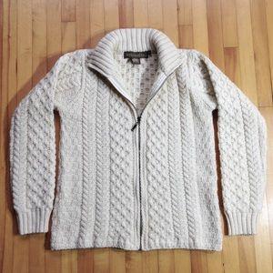 Inis Crafts Merino Wool Knit Sweater